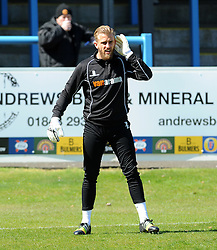Bristol Rovers' Will Puddy - Photo mandatory by-line: Neil Brookman/JMP - Mobile: 07966 386802 - 18/04/2015 - SPORT - Football - Dover - Crabble Athletic Ground - Dover Athletic v Bristol Rovers - Vanarama Football Conference
