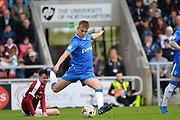 Gillingham FC midfielder Jake Hessenthaler (8) clears his lines during the EFL Sky Bet League 1 match between Northampton Town and Gillingham at Sixfields Stadium, Northampton, England on 30 April 2017. Photo by Dennis Goodwin.