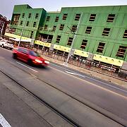 Commercial building construction, downtown Kansas City, Missouri. Hilton Home2Suites.