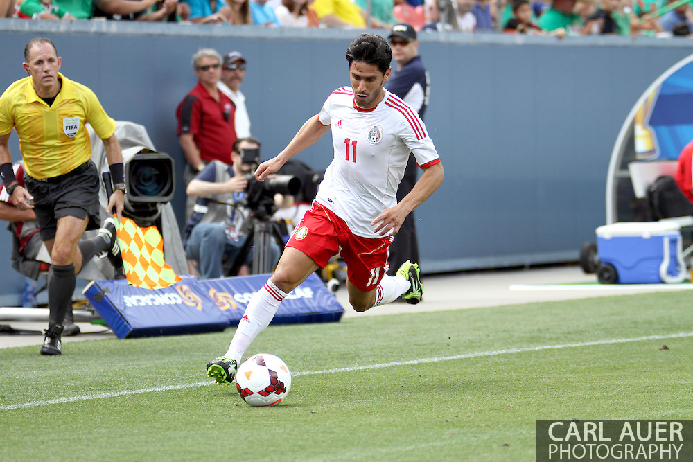 July 14 2013:  Mexico Forward Rafael Marquez Lugo (11) controls the ball during the second half of action in the CONCACAF Gold Cup soccer match between Martinique and Mexico at Sports Authority Field in Denver, CO. USA.