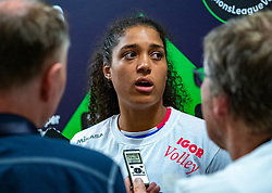 18-05-2019 GER: CEV CL Super Finals Igor Gorgonzola Novara - Imoco Volley Conegliano, Berlin<br /> Igor Gorgonzola Novara take women's title! Novara win 3-1 / Celeste Plak #4 of Igor Gorgonzola Novara mixed zone