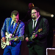 Chris Isaak performs with his group at The Music Hall in Portsmouth, NH on August 19, 2017