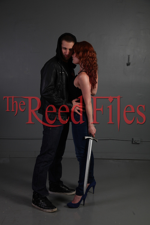 Urban Fantasy Paranormal Couple with a sword