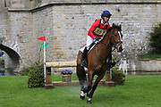 David Doel riding Man about Town II during the International Horse Trials at Chatsworth, Bakewell, United Kingdom on 12 May 2018. Picture by George Franks.
