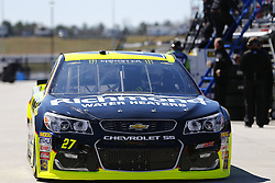 March 3, 2017 - Hampton, Georgia, United States of America - March 03, 2017 - Hampton, Georgia, USA: Paul Menard (27) heads out of the garage to practice for the Folds of Honor QuikTrip 500 at Atlanta Motor Speedway in Hampton, Georgia. (Credit Image: © Justin R. Noe Asp Inc/ASP via ZUMA Wire)