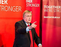 Former Deputy Primie Minister Lord Prescott gives a speech at a campaign event in Kirkcaldy.<br /> &copy; Dave Johnston/ EEm