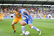 Colchester Utd defender Lewis Kinsella during the EFL Sky Bet League 2 match between Colchester United and Cambridge United at the Weston Homes Community Stadium, Colchester, England on 13 August 2016. Photo by Nigel Cole.