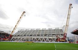 General view of the new West Stand taking shape at Ashton Gate - Mandatory by-line: Paul Knight/JMP - Mobile: 07966 386802 - 05/12/2015 -  FOOTBALL - Ashton Gate Stadium - Bristol, England -  Bristol City v Blackburn Rovers - Sky Bet Championship