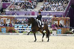 Vilhelmson Silfven, Tinne, Don Auriello<br /> London - Olympische Spiele 2012<br /> <br /> Dressur Grand Prix de Dressage<br /> © www.sportfotos-lafrentz.de/Stefan Lafrentz