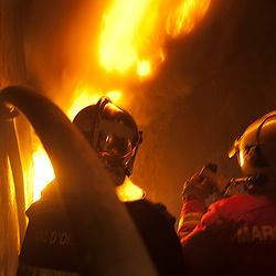 Bureau Enquête et Incendie au fort de Domont (95)<br /> Centre de formation à la Recherche des Causes et Circonstances d'Incendie, cet organisme unique en France forme les experts en incendie auprès de la justice.<br /> décembre 2011 / Domont / Val d'Oise(95) / FRANCE