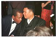 SIDNEY POITIER; MUHAMMAD ALI  at the Vanity Fair<br /> Oscar Night Party. Mortons. Los Angeles.  24 March 1997<br /> <br /> © Copyright Photograph by Dafydd Jones<br /> 66 Stockwell Park Rd. London SW9 0DA<br /> Tel 0171 733 0108