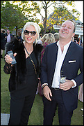 AMANDA ELIASCH; SIMON LEE, 2014 Serpentine's summer party sponsored by Brioni.with a pavilion designed this year by Chilean architect Smiljan Radic  Kensington Gdns. London. 1July 2014