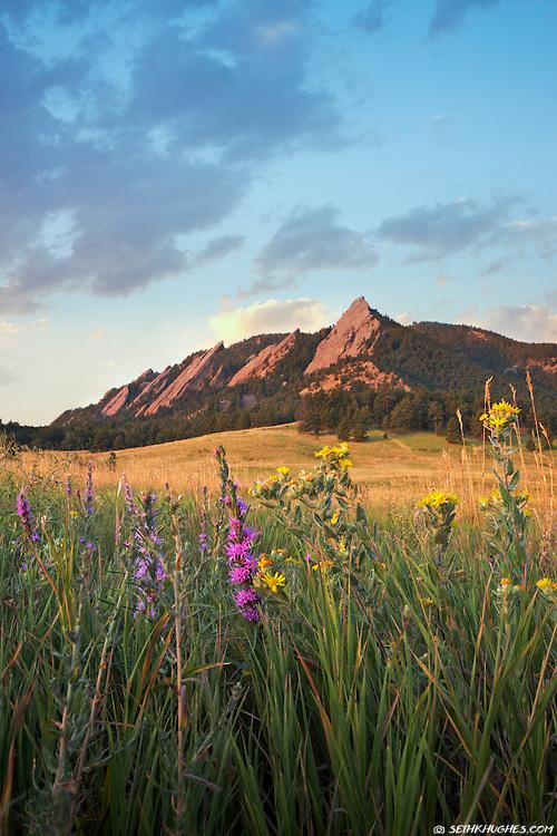 Flatirons, Chautauqua. Boulder, Colorado.
