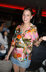 ISOBEL BUCHANAN-JARDINE at a night of Cuban Cocktails and Cabaret hosted by Edward Taylor and Charles Beamish at Floridita, 100 Wardour Street, London W1 on 14th April 2005.<br />