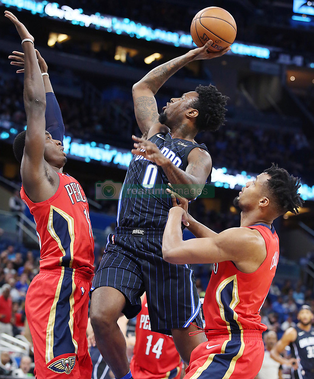 December 22, 2017 - Orlando, FL, USA - The Orlando Magic's Jamel Artis (0) shoots against the New Orleans Pelicans at the Amway Center in Orlando, Fla., on Friday, Dec. 22, 2017. The Pelicans won, 111-97. (Credit Image: © Stephen M. Dowell/TNS via ZUMA Wire)