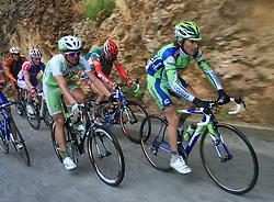 Matija Kvasina of Croatia (Perutnina Ptuj) and Franco Pellizotti of Italia (Liquigas) during 3rd stage of the 15th Tour de Slovenie from Skofja Loka to Krvavec (129,5 km), on June 13,2008, Slovenia. (Photo by Vid Ponikvar / Sportal Images)/ Sportida)
