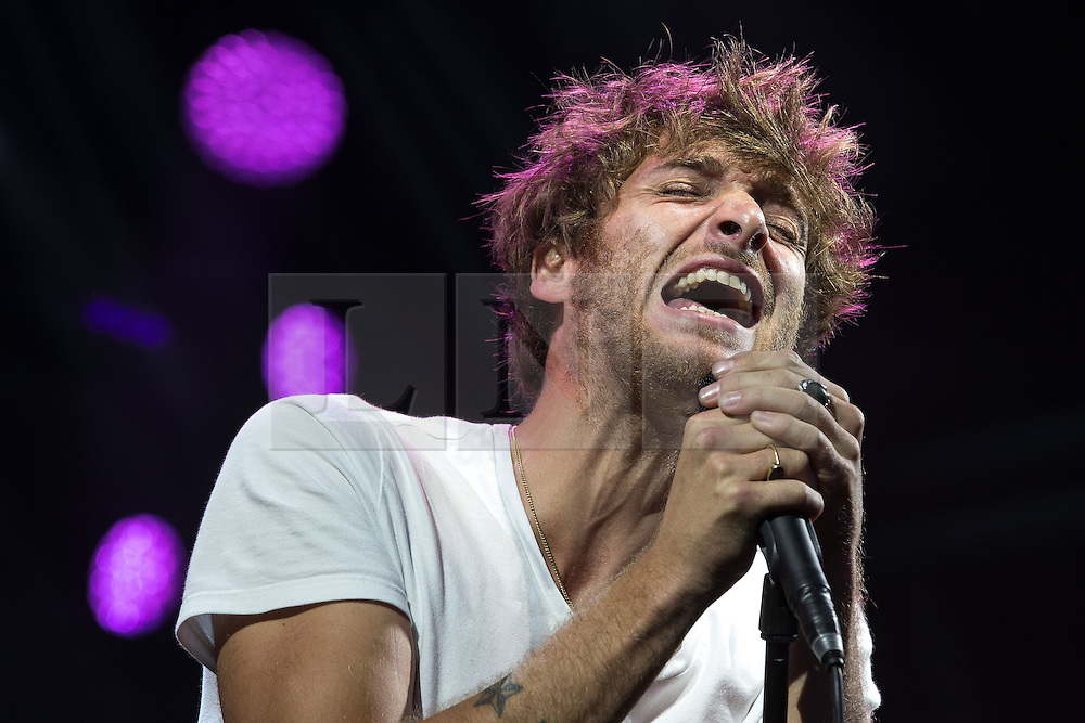 """© Licensed to London News Pictures . 02/07/2015 . Manchester , UK . PAOLO NUTINI performs at the Castlefield Bowl at the opening of """" Summer in the City """" festival in Manchester. Photo credit : Joel Goodman/LNP"""