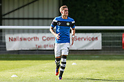 Forest Green Rovers Charlie Cooper(20) warming up during the Pre-Season Friendly match between Shortwood United and Forest Green Rovers at Meadowbank Ground, Nailsworth, United Kingdom on 14 July 2017. Photo by Shane Healey.