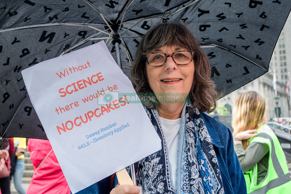 May 4, 2019 - New York, New York, United States - March for Science, a global movement for science and justice, today announced this year's flagship march was held in New York City on May 4, 2019. The march is part of a global day of action with events in cities around the world. (Credit Image: © Erik Mcgregor/Pacific Press via ZUMA Wire)