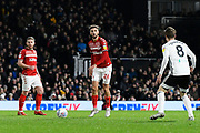 Lewis Wing (26) of Middlesbrough during the EFL Sky Bet Championship match between Fulham and Middlesbrough at Craven Cottage, London, England on 17 January 2020.