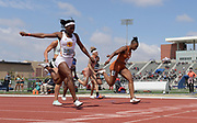Apr 20, 2019; Torrance, CA, USA; Teahna Daniels of Texas (right) defeats Twanisha Terry of Southern California to win the women's 100m, 11.20 to 11.21, during the 61st Mt. San Antonio College Relays at El Camino College.