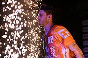 Achille Polonara of Banco di Sardegna Sassari   <br /> Banco di Sardegna Sassari - Happy Casa Brindisi<br /> Postemobile Final Eight 2019 Zurich Connect<br /> Basket Serie A LBA 2018/2019<br /> FIRENZE, ITALY - 16 February 2019<br /> Foto Mattia Ozbot / Ciamillo-Castoria