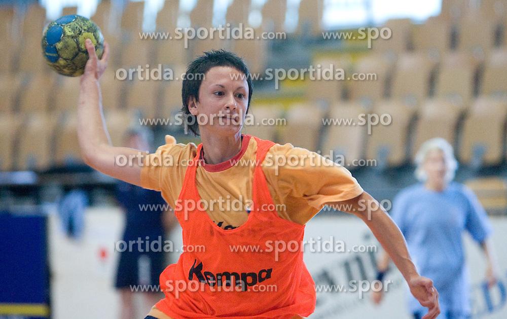Teja Djurovic at practice of Slovenian Handball Women National Team, on June 3, 2009, in Arena Kodeljevo, Ljubljana, Slovenia. (Photo by Vid Ponikvar / Sportida)