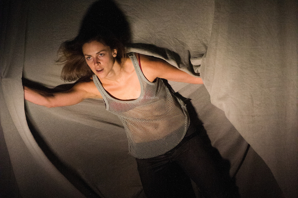 Plateau Effect performed by the Cullberg Ballet as part of  Sadler's Wells Northern Light Season celebrating Nordic Dance. Eva Mohn pictured.