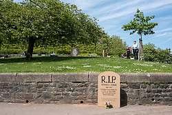 "© Licensed to London News Pictures. 15/05/2019. Bristol, UK. A tribute to a homeless woman who died in 2017 has been left in Castle Park in the city centre. The model headstone is for Deborah Morris who was found dead in a tent in the park on 28 May 2017 aged 48. She had been living in a high-support hostel for 10 months before her death. The cause of her death was not found. The tribute reads: ""R.I.P Deborah Morris. 1969 - 2017. ""Her body was found in a tent at this park. She was homeless. Remember her."" There is also a message that if anyone knows someone homeless who has died to contact former Bristol Live journalist Michael Yong or the Dying Homeless Project. 17 homeless people died in Bristol in 2017, the same year as Deborah Morris, which accounted for approximately a third of homeless deaths across the entire of the South West. Bristol also had the third highest number of deaths in England and Wales, alongside Lambeth and Liverpool, according to the Office for National Statistics (ONS). Photo credit: Simon Chapman/LNP"