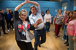 © London News Pictures. FILE PIC 01/05/2015. Shadow Chancellor ED BALLS taking part in a line dancing session during a visit to Kingsgate Community Centre in Kilburn, North London to campaign in the 2015 general election. Ed Balls is to appear on Strictly Come Dancing. Photo credit: Ben Cawthra/LNP