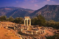 Tholos, Athena Pronaia Sanctuary, Delphi Greece