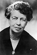 (Anna) Eleanor Roosevelt (1884-1962) American humanitarian. Chairman UN Human Rights Commission 1947-1951 and US representative at General Assembly 1946. Wife of Franklin D. Roosevelt. Photograph.