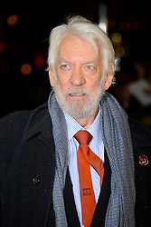Donald Sutherland at The World Premiere of 'The Hunger Games: Catching Fire'. Leicester Square, London, United Kingdom. Monday, 11th November 2013. Picture by Chris Joseph / i-Images