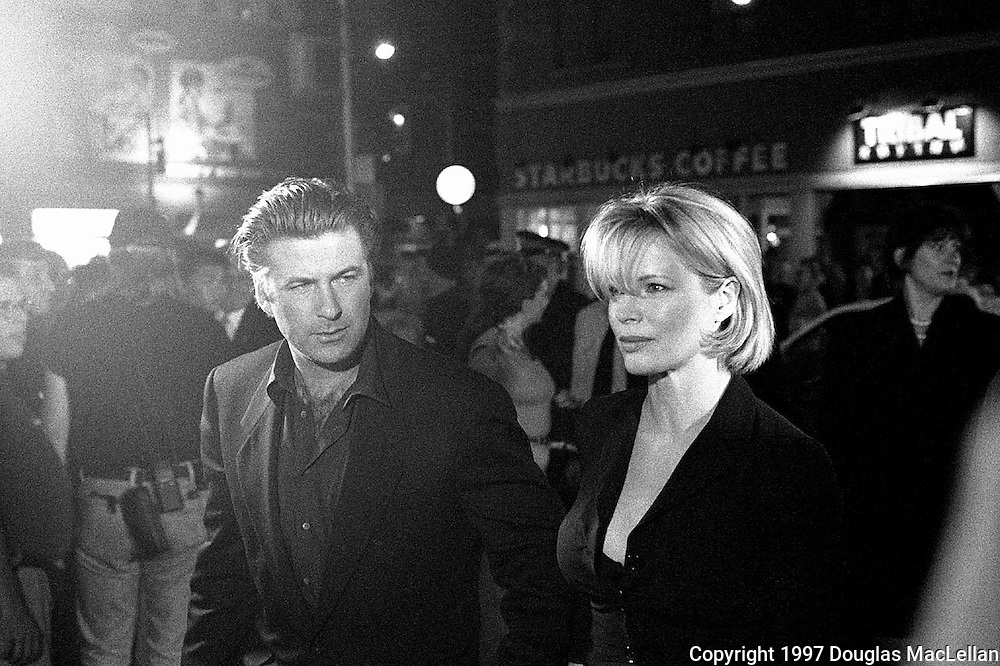Alec Baldwin and Kim Bassinger enter a party during the 1997 Toronto Internaltional Film Festival. They were attending a party after the openning of a film.(photo Doug MacLellan)