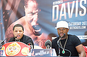 Floyd Mayweather Jr & Frank Warren press conference at The Savoy Hotel, London, Great Britain <br /> 7th March 2017 <br /> <br /> <br /> <br /> <br /> Gervonta Davis <br /> (an American professional boxer who has held the IBF junior lightweight title since January 2017)<br /> <br /> Floyd Joy Mayweather Jr. is an American former professional boxer who competed from 1996 to 2015 and currently works as a boxing promoter. <br /> 