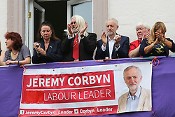 © Licensed to London News Pictures. 09/07/2016. Durham, UK. Labour leader Jeremy Corbyn at the Durham Miners' Gala in County Durham, UK. The gala is a large gathering held annually associated with the coal mining heritage and trade unionism. Photo credit : Ian Hinchliffe/LNP