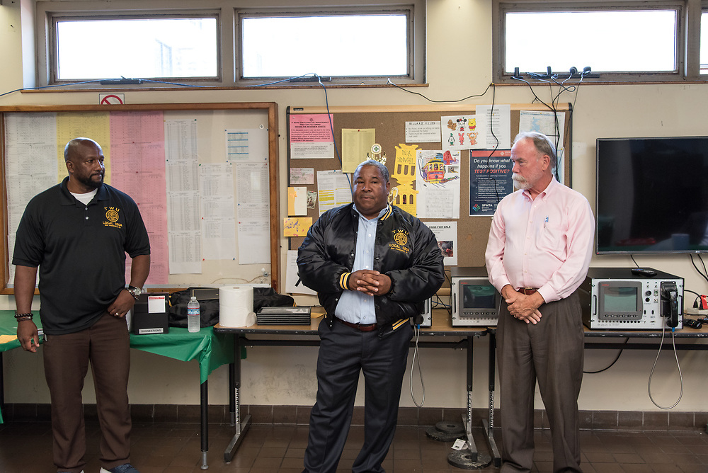 TWU Secretary Terrence Hall Speaking at Cable Car Division Systemwide Operator of the Month | July 28, 2017