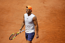 May 23, 2019 - Paris, France - Rafael Nadal during a training session with Fernando Verdasco in the preparations of Roland Garros finals in Paris, France, on 23 May 2019. (Credit Image: © Ibrahim Ezzat/NurPhoto via ZUMA Press)