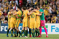 SYDNEY, NSW- NOVEMBER 15: Australian team celebrate their win at the Soccer World Cup Qualifier between Australia and Honduras on November 10, 2017. (Photo by Steven Markham/Icon Sportswire)