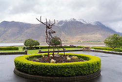 Sculpture at Torridon Hotel on the North Coast 500 scenic driving route in northern Scotland, UK