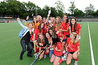 hockey, seizoen 2010-2011, 10-06-2011, amstelveen, Finale Nationale Shell Schoolhockeycompetitie 2011, Meisjes Jong Willem de Zwijger College Bussum - SG WereDi Valkenswaard 2-0, winnaar Willem de Zwijger College