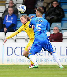 Luke James of Bristol Rovers battles for the ball with Max Ehmer of Gillingham - Mandatory by-line: Alex James/JMP - 14/04/2017 - FOOTBALL - MEMS Priestfield Stadium - Gillingham, England - Gillingham v Bristol Rovers - Sky Bet League One