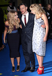 Joanne Froggatt, James McAvoy and Imogen Poots  arriving at the Filth premiere in London, Monday, 30th September 2013. Picture by Stephen Lock / i-Images