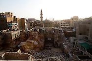 Egypt. Cairo -wakala - caravanserail - destroyed in Khan el Khalili market;  view from the minaret of the mosquee madrassa al Zahir BAYBARS sharia Al Mu'izz LI DIN Allah street    islamic Cairo   NM37 +