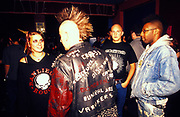 A group of punks, U.K, 1990s.