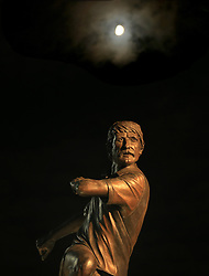 A statue to former West Bromwich Albion winger Tony 'Bomber' Brown under the moon at The Hawthorns - Mandatory by-line: Paul Roberts/JMP - 28/11/2017 - FOOTBALL - The Hawthorns - West Bromwich, England - West Bromwich Albion v Newcastle United - Premier League
