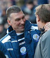 Photo: Steve Bond/Richard Lane Photography. Leicester City v Sheffield Wednesday. Coca Cola Championship. 12/12/2009. Nigel Pearson before the game