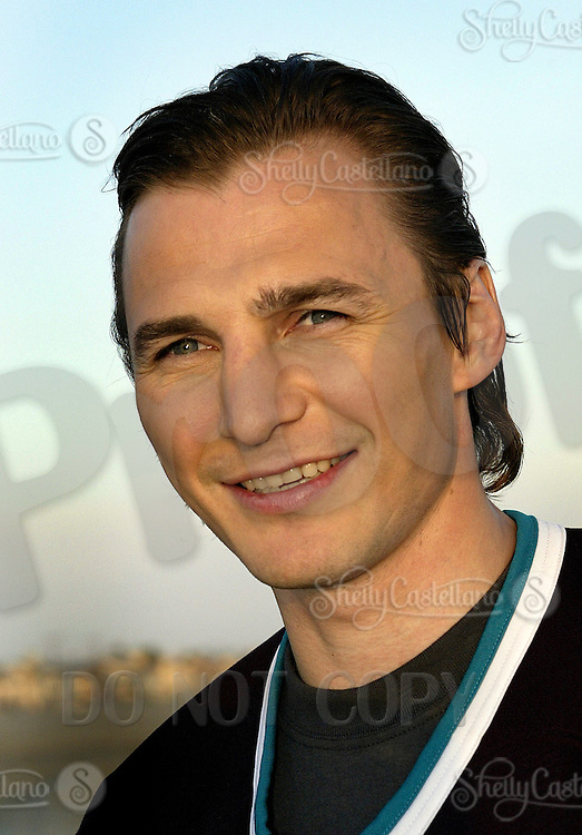 19 August 2003: Headshot Closeup of NHL ice hockey player Sergei Fedorov (RUS) makes a trip to Newport Beach, CA. Portraits of him posing on the beach at sunset in Southern California before becoming a key player for the Anaheim Mighty Ducks.