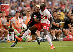 August 5, 2017 - Washington, DC, USA - 20170805 - D.C. United midfielder LUCIANO ACOSTA (10) tries to battle around Toronto FC defender CHRIS MAVINGA (23) in the first half at RFK Stadium in Washington. (Credit Image: © Chuck Myers via ZUMA Wire)