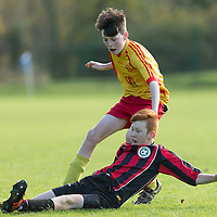 Action from the U13 Boys Shield Final between Avenue United and Fern Celtic